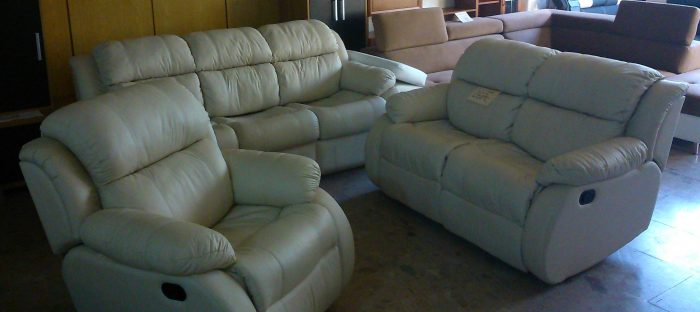 Luxusná kožená sedačka Iris.